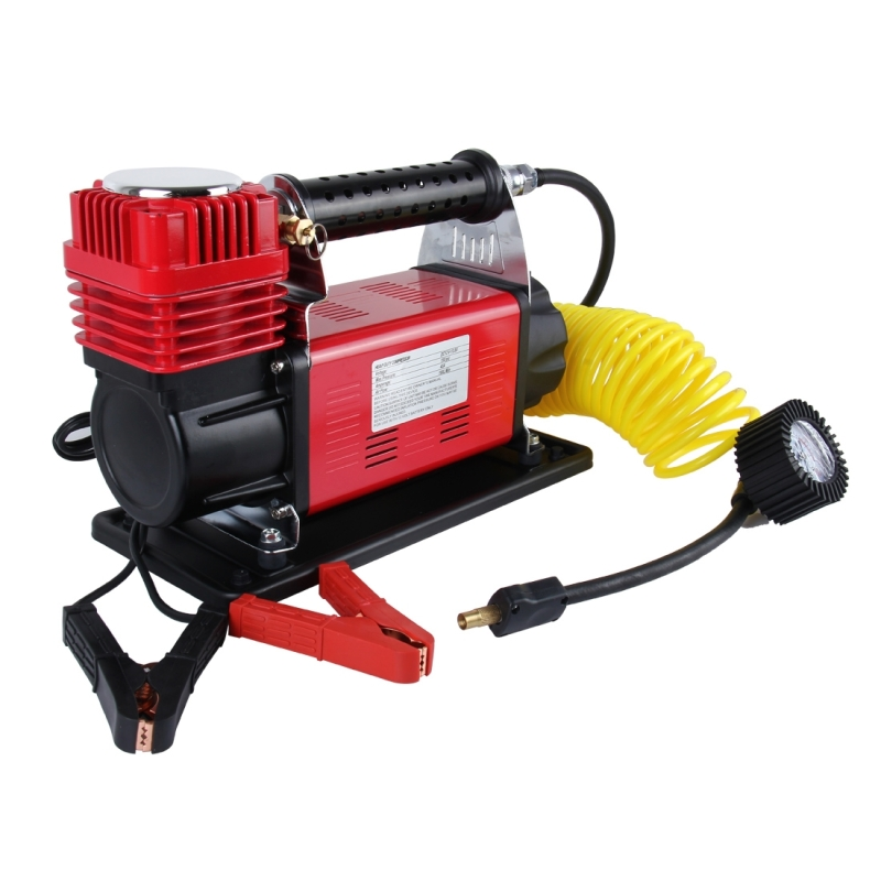 Air Compressor With Pressure Gauge And Three Nozzle