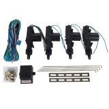 Car Security Waterproof Alarm & Keyless Entry Locking System with 4 Car Power Door Lock Actuator Motors