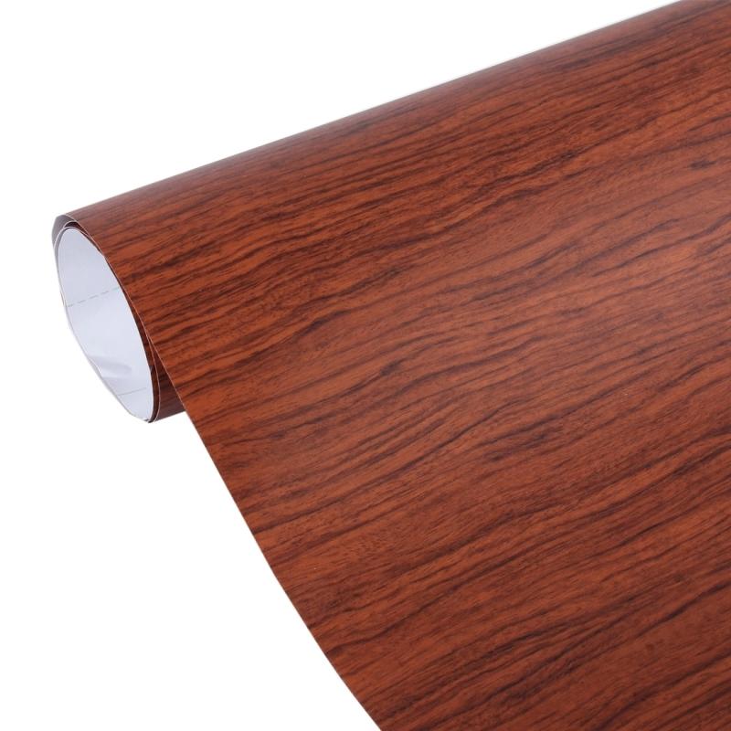 Acacia Wood Textured High Gloss Carbon Fiber Car Vinyl