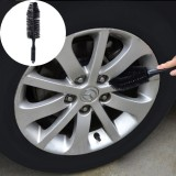Portable Loop Style Auto Car Vehicle Motorcycle Wheel Tire Rim Hub Scrub Wash Brush Washing Cleaning Tool (Black)