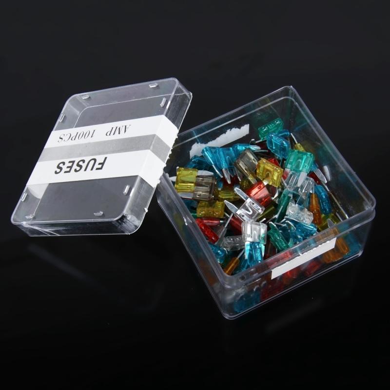 100 PCS 5Amp 7.5Amp 10Amp 15Amp 20Amp 25Amp 30Amp Add-a-circuit Fuse Tap Adapter Blade Fuse Holder (Medium Size)