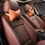 2 PCS MLC-06 Car Neck Pillow Soft Version Lovely Breathe Car Auto Head Neck Rest Cushion Headrest Pillow Pad (Brown)