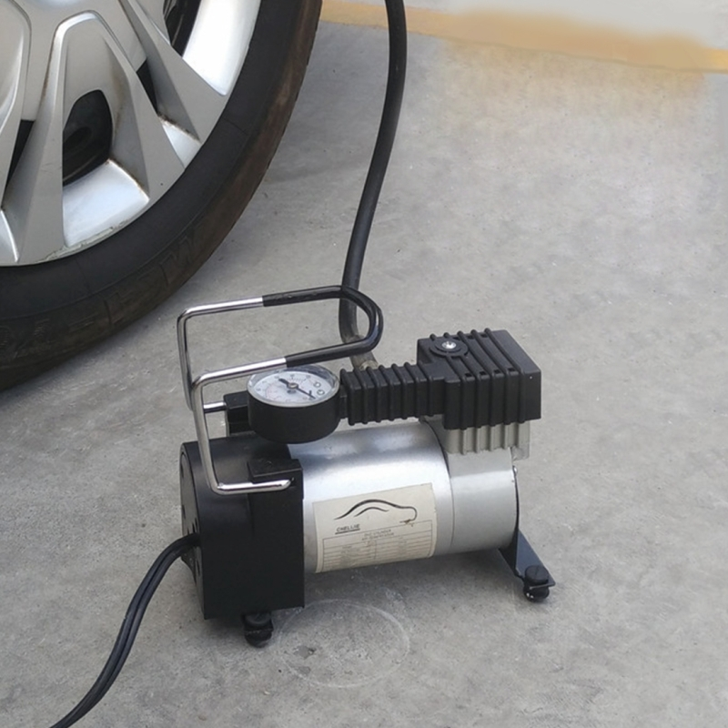 Air Compressor with Pressure Gauge And Three Nozzle Adapters ...