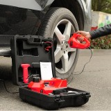 Roadside Emergency Kit Including 12V DC Electric Hydraulic Floor Jack with Inflatable Pump Emergency Hammer and Electric Impact Wrench Tool Set