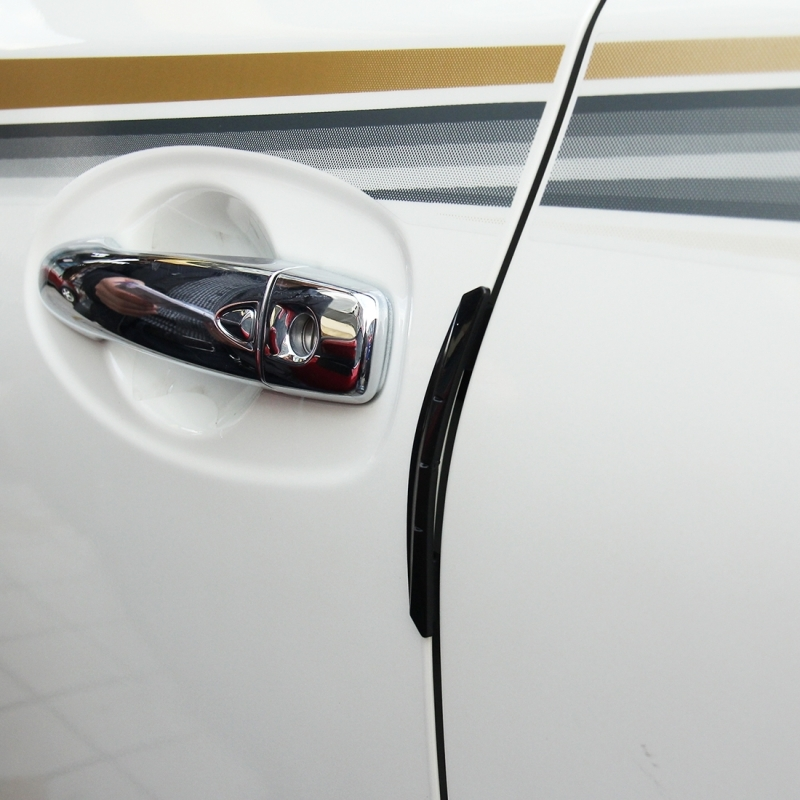 3R 3R-2103 4 PCS Rubber Car Side Door Edge Protection Guards Cover ...