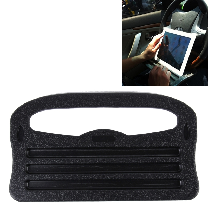 Vehicle Portable Desk Steering Wheel Multi Use Tray Stand