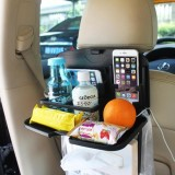 SHUNWEI SD-1509 Car Auto Back Seat Folding Table Drink Food Cup Tray Holder Stand Desk Multi-purpose Travel Dining Tray