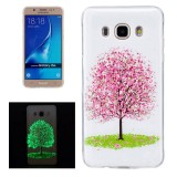 For Samsung Galaxy J5 (2016) / J510 Noctilucent Cherry Tree Pattern IMD Workmanship Soft TPU Back Cover Case