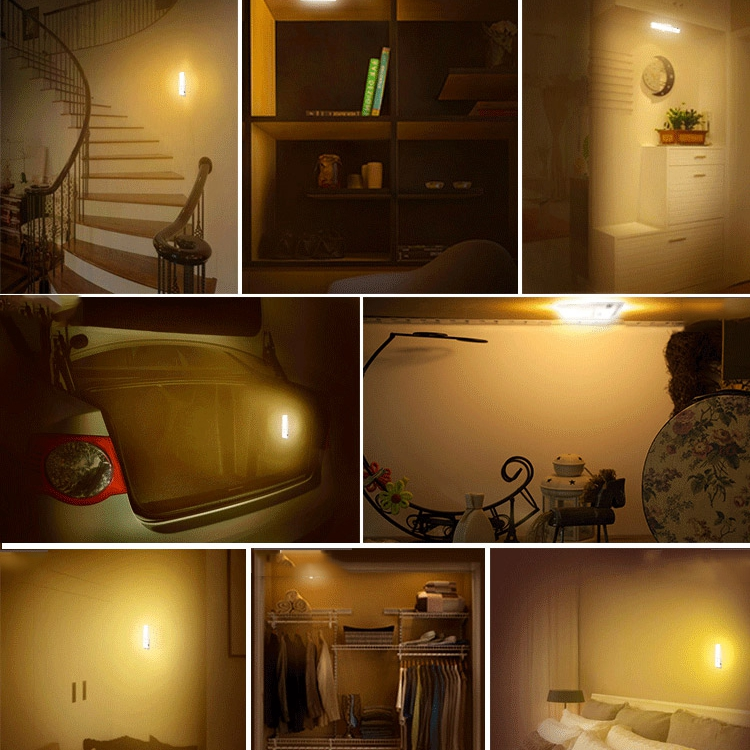 kitchen night light usb rechargeable led cabinet light motion 2334