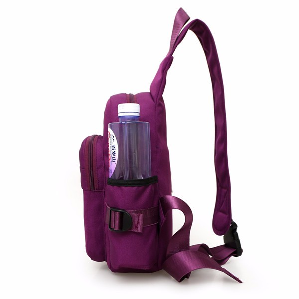 Women Nylon Large Capacity Daily Crossbody Bag Waterproof Durable Chest Shoulder