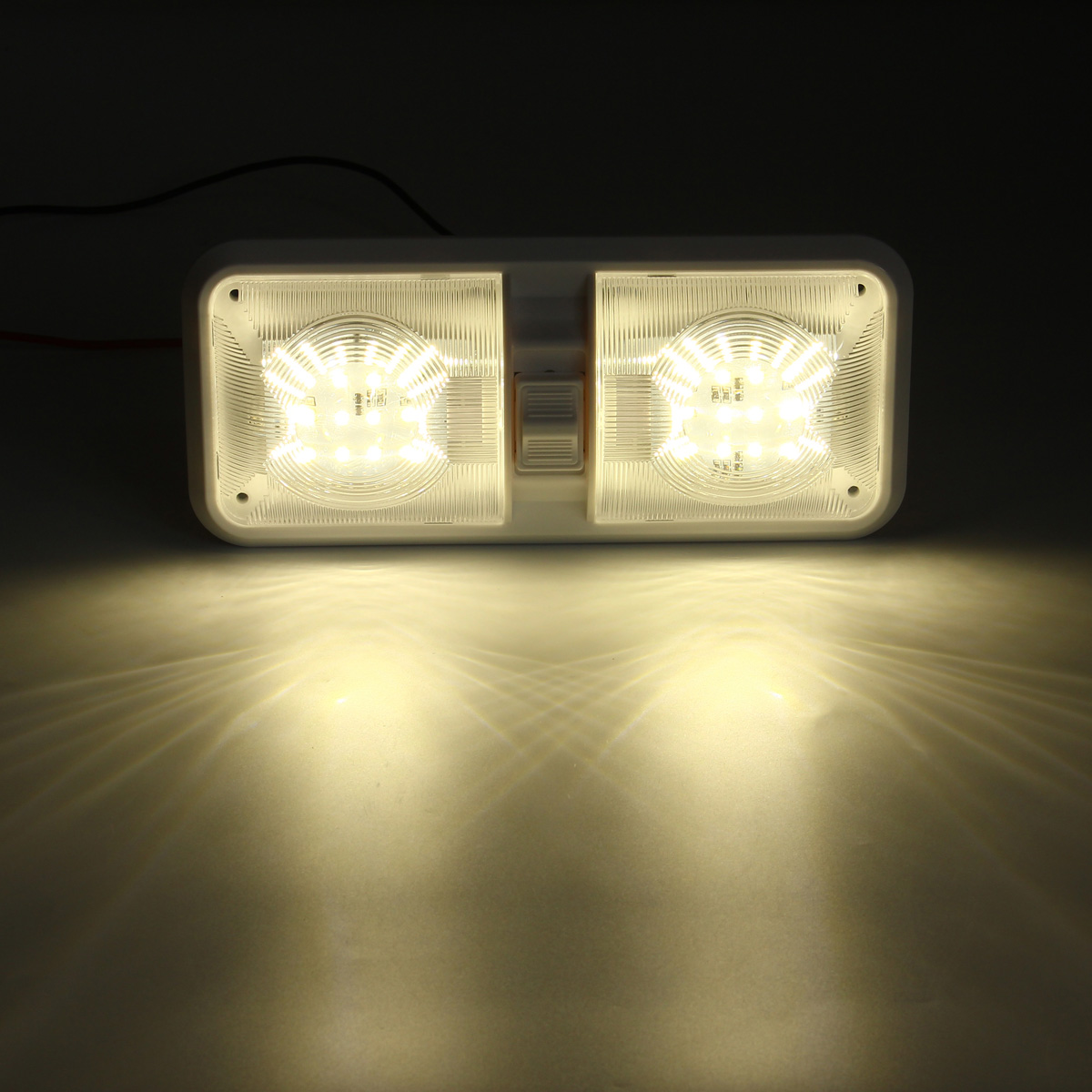 12v 48led 2835 smd interior double dome ceiling light switch for rv boat camper trailer alex nld. Black Bedroom Furniture Sets. Home Design Ideas