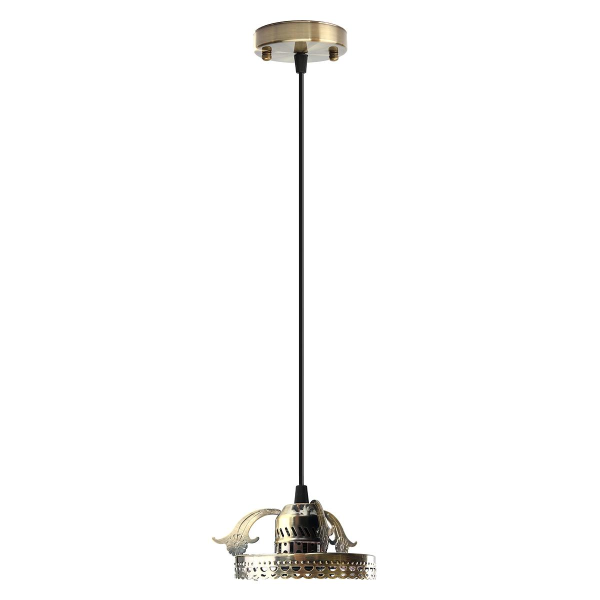 Antique Industrial Vintage Ceiling Pendant Light Lamp Bulb Chandelier Fixture For Indoor