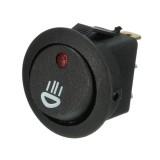 12V 20A Illuminated LED Fog Light Round Rocker SPST Switch On/Off Dash Light For Car Van