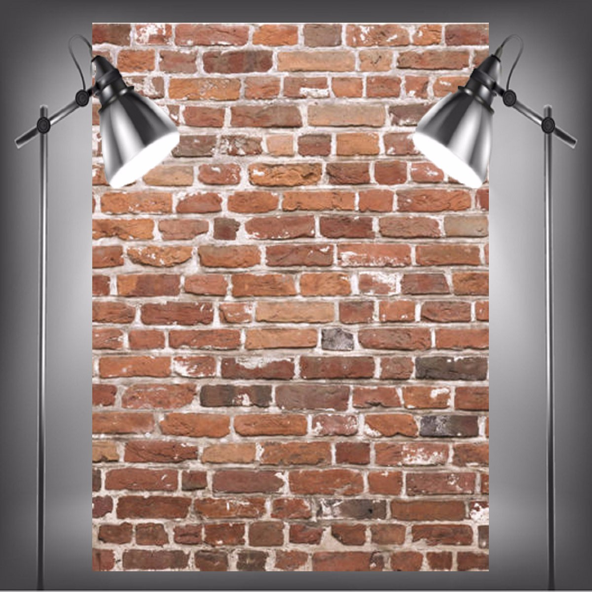 Bricks Studio: 1.5×2.1m Photography Vinyl Background Worn Red Brick Wall
