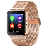 Z50 Smart Watch Phone, 1.54 inch IPS Touch Screen, Support SIM Card & TF Card, Bluetooth, GSM, 0.3MP Camera, Pedometer, Sedentary Alarm, Sleep Monitor, GPS, Remote Camera, Anti-lost Function (Gold)