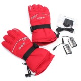 3.7V 2000MA 45° Electric Heated Warmer Gloves Motorcycle Motorbike Outdoor Skiing Climbing Red M XL