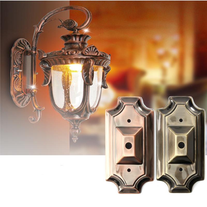 Light Fixture Base: Retro Vintage Rectangle Style Sconce Wall Lamp Light Base