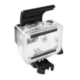 For Gopro HERO4 / 3+ Sports Action Camera Waterproof Housing Case ABS Plastic Back Door Clip Lock Catch (Black)