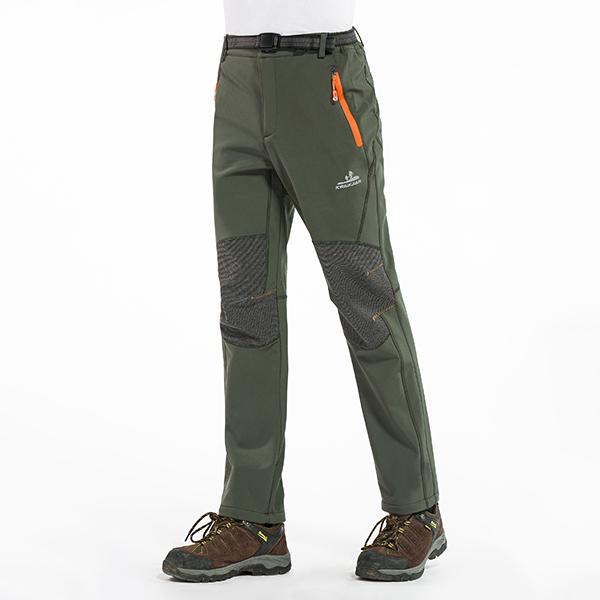 7356f15e4 Winter Outdoor Thick Fleece Warm Pants Mens Waterproof Camping Climbing  Hiking Soft Shell Trousers