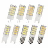 G9 E14 G4 4W 51 SMD 2835 LED Pure White Warm White Natural White Light Lamp Bulb AC220V