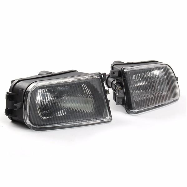 Pair Black Fog Lights Bumper Lamp Cover Housing For Bmw