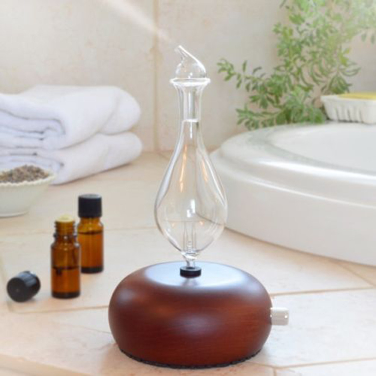 Wood Amp Glass Air Nebulizer Humidifier Adjustable