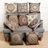 45x45cm Vintage Flower Cotton Linen Throw Pillow Case Waist Cushion Cover Bags Home Sofa Car Decor