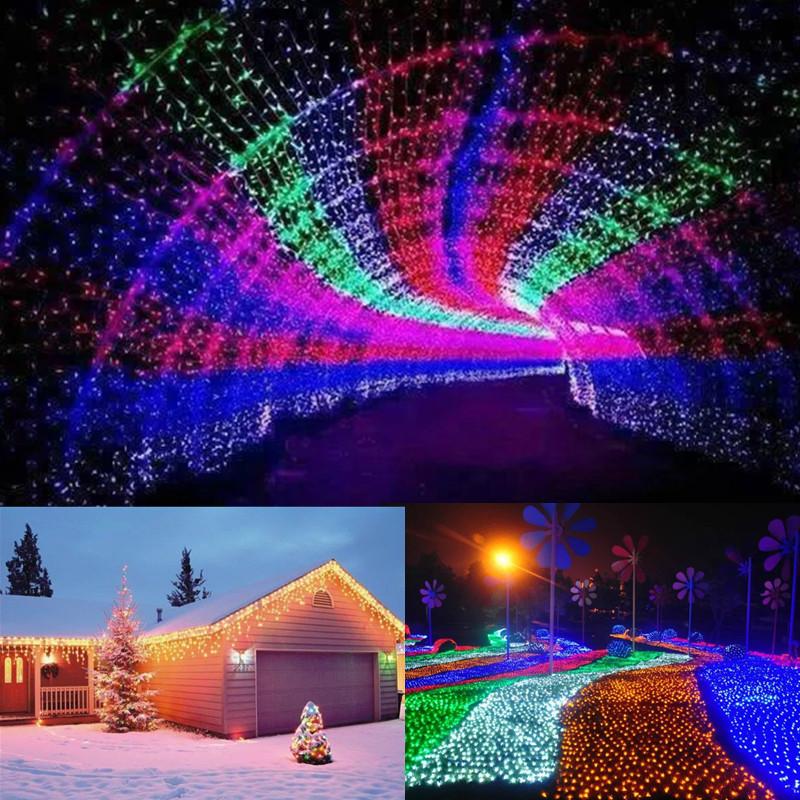 20M 200LED Waterproof Fairy String Light Christmas Outdoor Wedding Party Lamp EU Plug AC220V
