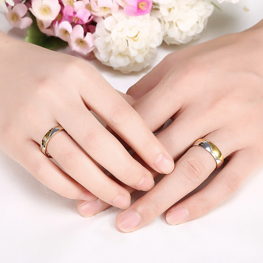 Wedding Gift For Couple Not Registered : ... Steel Zircon Couple Ring Women Men Jewelry For Wedding Gift Alex NLD