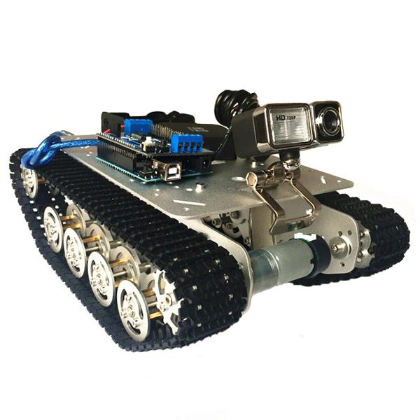TS100 Intelligent Shock Absorption Metal Robot Tank Car ...