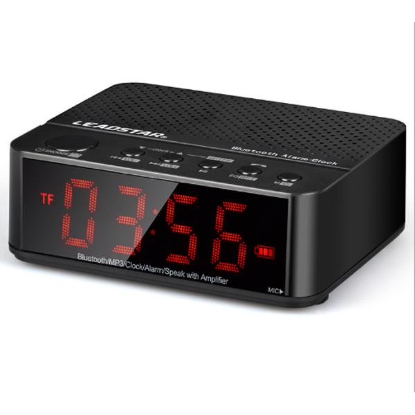 Leadstar Wireless Alarm Clock Mini Bluetooth Speaker With