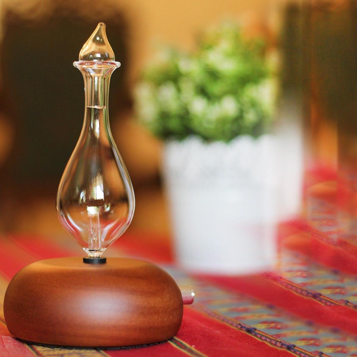Aromatherapy Nebulizer Diffuser ~ Wood glass air nebulizer humidifier adjustable