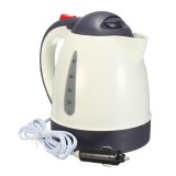 1000mL 12V/24V 304 Stainless Car Water Heater Kettle with Cigarette Lighter Plug