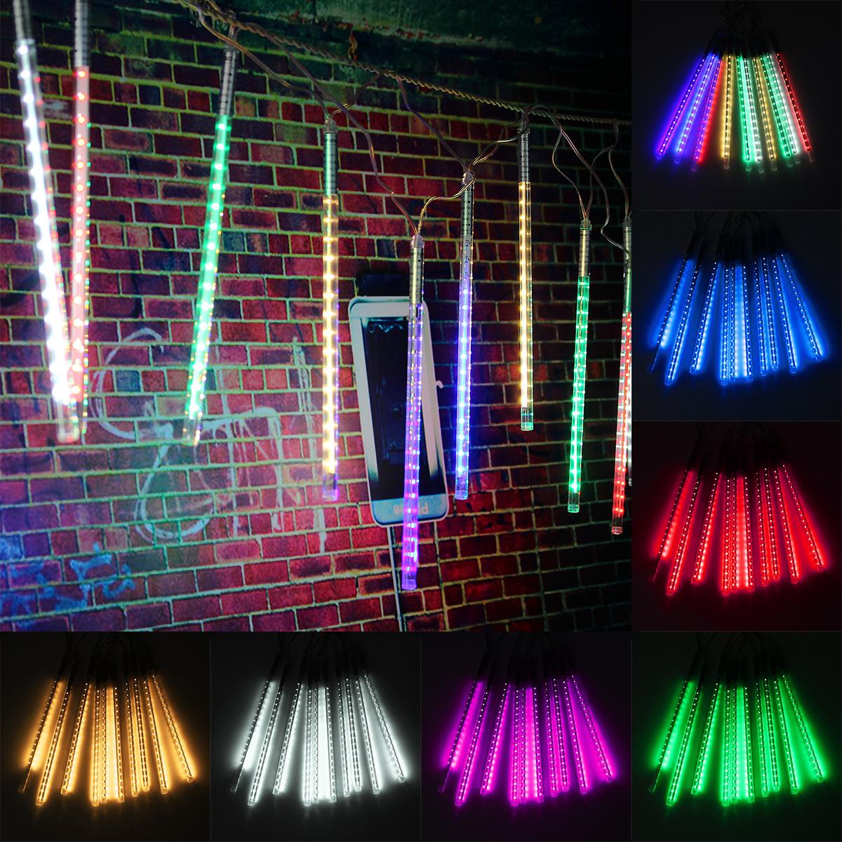 10 Tube 30CM LED Meteor Shower Rain Fall Outdoor Christmas ...