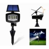 8 LED Pure White Solar Spot Light Outdoor Garden Lawn Landscape Path Lamp