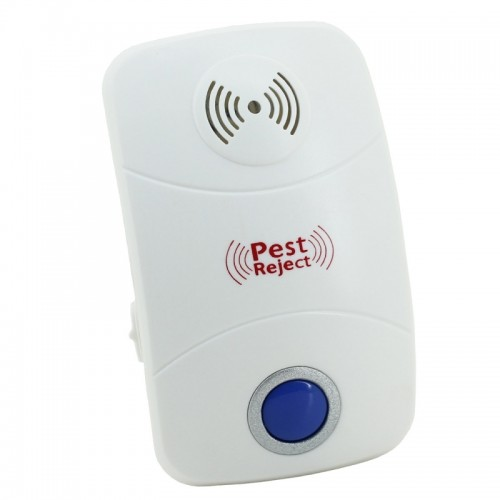 Electronic Ultrasonic Mosquito Rat Pest Control Repeller with LED Light, AC90V-250V (White)
