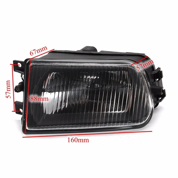 Pair Black Fog Lights Bumper Lamp Cover Housing For Bmw E39 5 Series 97 00 Z3 97 01 Alex Nld