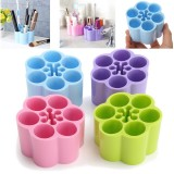 4 Colors Brushes Organizer Makeup Cosmetic Case Holder Display Stand Storage Box