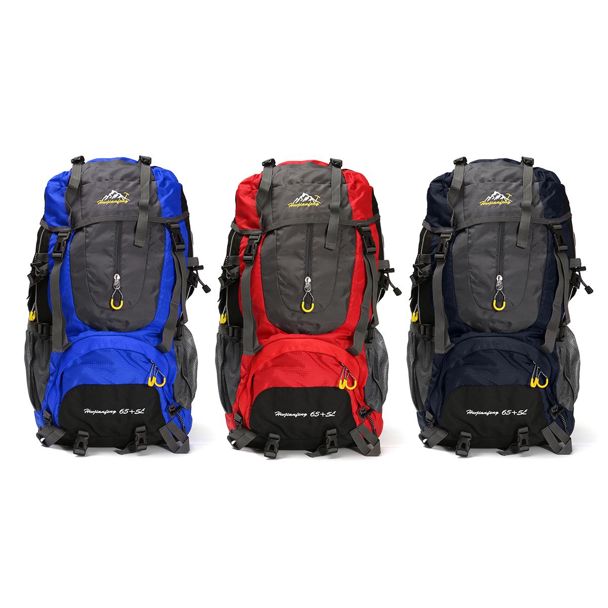 Outdoor 70L Waterproof Rucksack Backpack Camping Hiking ...
