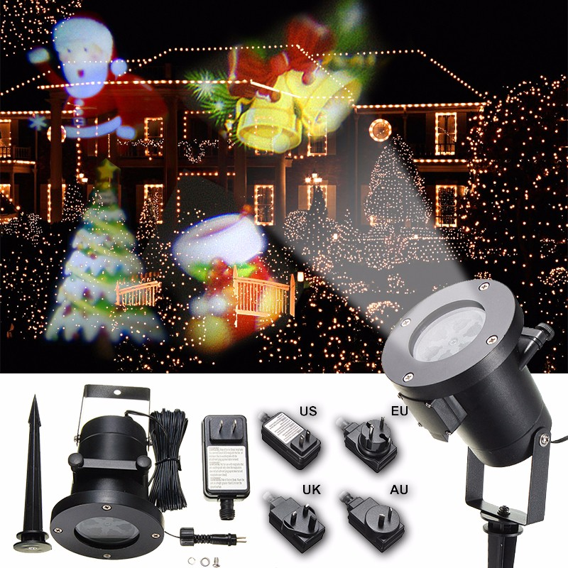 Waterproof Colorful Santa Claus Pattern LED Christmas ...
