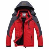 Mens Thick Fleece Winter Outdoor Water Repellent Jacket Casual Stand Collar Coat Plus Size S-4XL