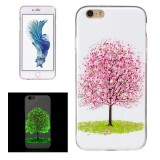 For iPhone 6 Plus & 6s Plus Noctilucent Cherry Tree Pattern IMD Workmanship Soft TPU Back Cover Case