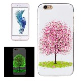 For iPhone 6 & 6s Noctilucent Cherry Tree Pattern IMD Workmanship Soft TPU Back Cover Case