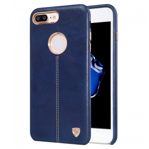 NILLKIN Englon Case for iPhone 7 Plus Business Style Crazy Horse Leather Surface PC Protective Case Back Cover with Soft Microfiber Lining (Dark Blue)