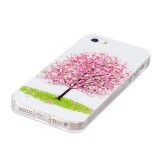 For iPhone 5 & 5s & SE Noctilucent Cherry Tree Pattern IMD Workmanship Soft TPU Back Cover Case