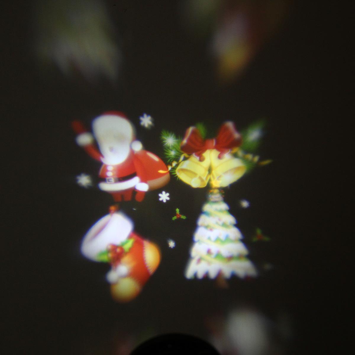 Waterproof colorful santa claus pattern led christmas