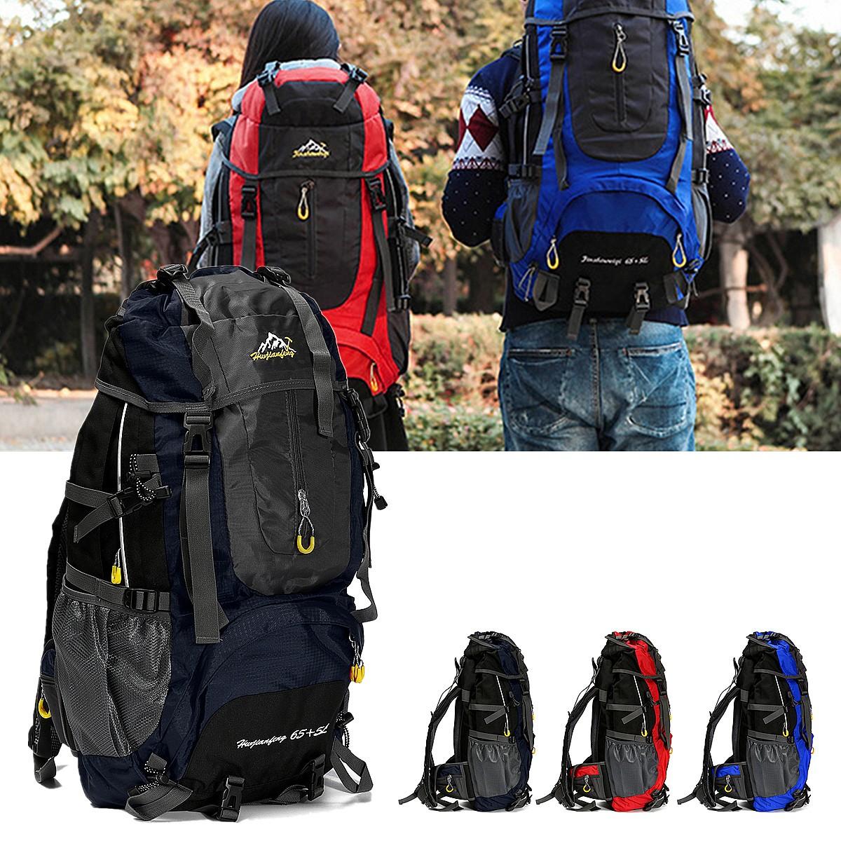 Outdoor 70L Waterproof Rucksack Backpack Camping Hiking Trekking Travel Shoulder Bag Pack