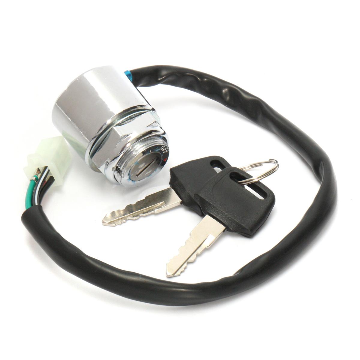 110cc Atv Key Switch Wiring Electrical Diagrams Starter 4 Wire On Off Ignition 50 70 90 110 125 150 200 Cc Suzuki