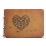 DIY Leather Handmade Vintage Stamping Wedding Photo Album Eternal Memory Album