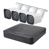 COTIER A4B6 4Ch 960P 1.3 Mega Pixel Bullet IP Camera NVR Kit, Support Night Vision / Motion Detection, IR Distance: 15m